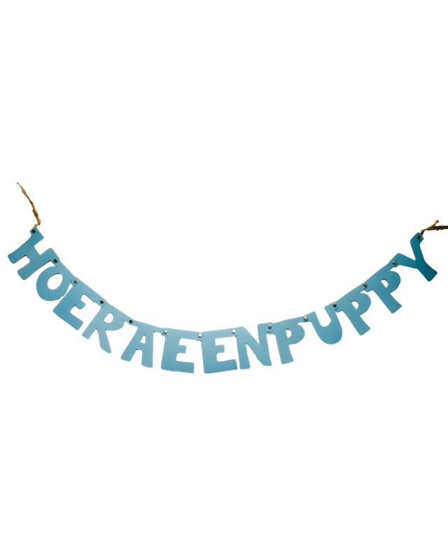 Hoera een puppy slinger