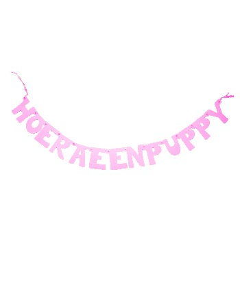 Hoera een puppy roze