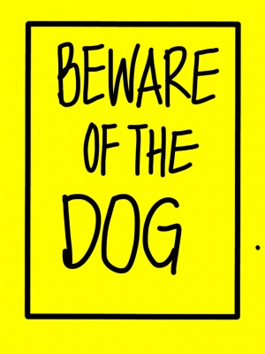beware of the dog mr peppie